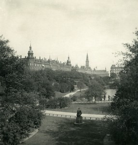 Danemark Copenhague Aborreparken Jardins Ancienne Photo Stereo NPG 1900