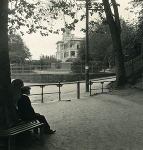 Danemark Copenhague Hvidore Chateau Ancienne Photo Stereo NPG 1900