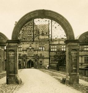 Danemark Copenhague Frederiksborg Slot Chateau Arcade Ancienne Photo Stereo NPG 1900