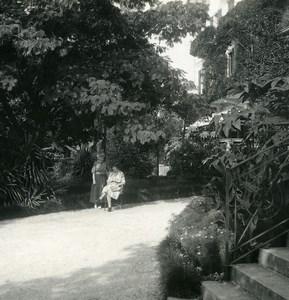 Switzerland Locarno Hotel Reber Garden Old Possemiers Stereoview Photo 1900