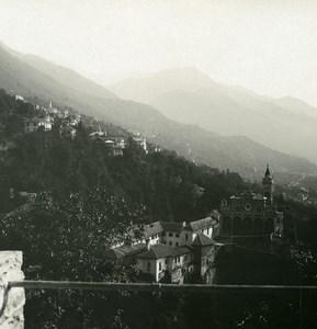 Suisse Locarno Madonna del Sasso Ancienne Photo Stereo Possemiers 1900
