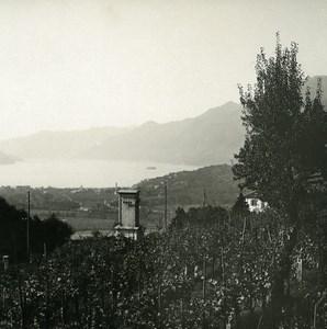 Suisse Locarno Monti della Trinita Ancienne Photo Stereo Possemiers 1900