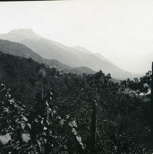 Switzerland Locarno Orselina towards Brione Old Possemiers Stereoview Photo 1900