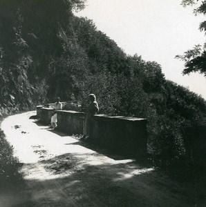Suisse Locarno chemin d'Orselina à Brione Ancienne Photo Stereo Possemiers 1900