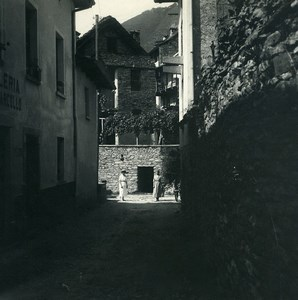 Suisse Locarno Brione Vieilles Maisons Ancienne Photo Stereo Possemiers 1900