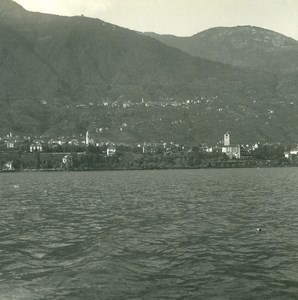 Suisse Lac Majeur Locarno Minusio & Brione Ancienne Photo Stereo Possemiers 1900