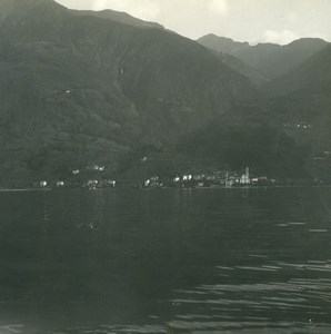 Suisse Lac Majeur Vira Ancienne Photo Stereo Possemiers 1900