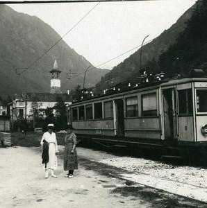 Switzerland Valle Maggia Bignasco Train Station Possemiers Stereoview Photo 1900