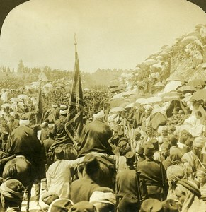 Israel Palestine Jerusalem Great pilgrimage Old Young ASC Stereoview Photo 1900