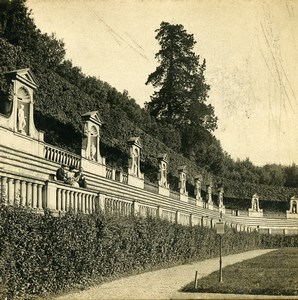 Italy Florence Firenze Boboli garden Amphitheatre Old Stereoview Photo SIP 1900