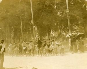 Bagneres de Bigorre Young Guides Regiment Scouting Amateur Stereoview Photo 1900