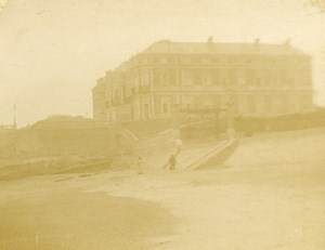 France Biarritz Palace of the Empress Eugenie Old Amateur Stereoview Photo 1900