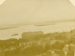 France Arcachon panorama Old Amateur Stereoview Photo 1900
