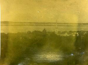 France Arcachon panorama Ancienne Stereo Photo amateur 1900