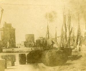 France vue du port de la Rochelle Ancienne Stereo Photo amateur 1900