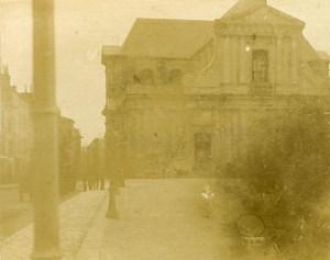 France Cathedrale de la Rochelle Ancienne Stereo Photo amateur 1900