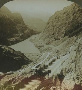 Norvege Lac de Gorsvatnet Odda panorama ancienne photo stereo American Stereoscopic Co 1900