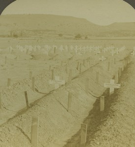 South Africa Natal Intombi Cemetery Ladysmith Photo Stereoview Excelsior 1900