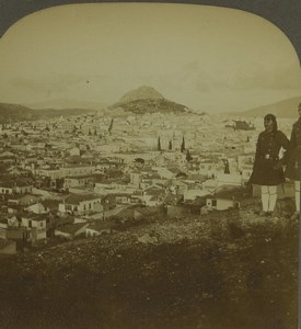 Greece Athens from Areopagus Mars Hill Old Photo Stereoview Excelsior 1900