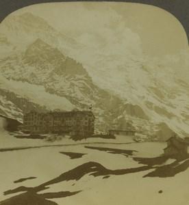 Switzerland Wetterhorn Scheidegg Old Photo Stereoview Excelsior 1900