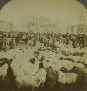 Turkey Constantinople Feast of Bayram Aïd Old Photo Stereoview Excelsior 1900