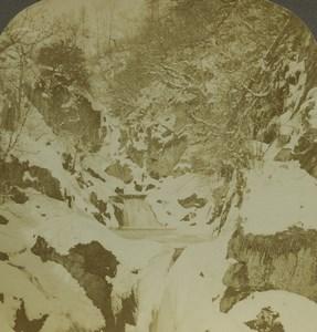 United Kingdom Ingleton Yorkshire Pecca Falls Photo Stereoview Excelsior 1900