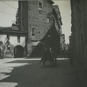 Italie Rome Via di Monte Brianzo Ancienne Photo Stereo Possemiers 1910