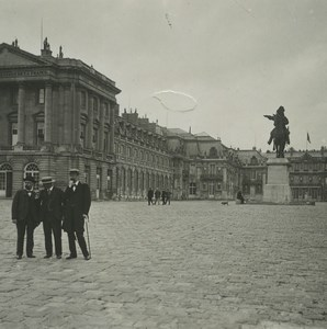 France Versailles Royal Palace Courtyard Old Possemiers Stereoview Photo 1920