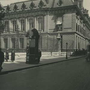 France Paris Rue Vivienne Library Old Possemiers Stereoview Photo 1920