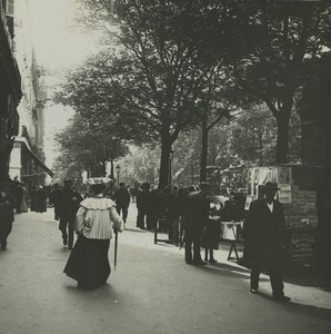 France Paris snapshot on the Boulevards Old Possemiers Stereoview Photo 1920