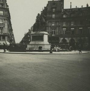 France Paris Place des Victoires Ancienne Photo Stereo Possemiers 1920