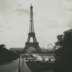 France Paris Tour Eiffel Tower Old Possemiers Stereoview Photo 1920