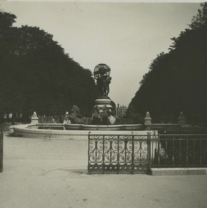 France Paris Fountain of Observatory Old Possemiers Stereoview Photo 1920