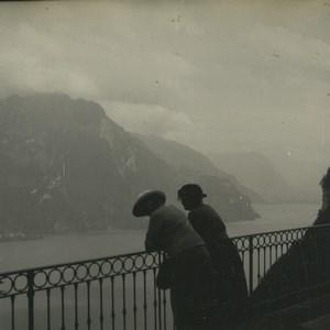 Switzerland Seelisberg  Hotel Sonnenberg Old Possemiers Stereoview Photo 1920
