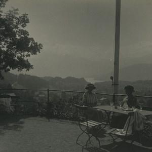 Switzerland Kerns panorama Hotel Burgfluh Old Possemiers Stereoview Photo 1920