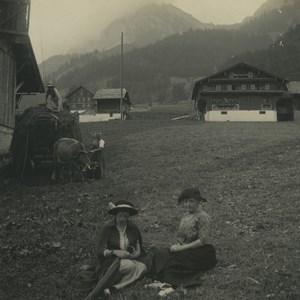 Switzerland Melchtal Alpine Pasture Old Possemiers Stereoview Photo 1920