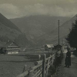 Switzerland Melchtal Village Old Possemiers Stereoview Photo 1920