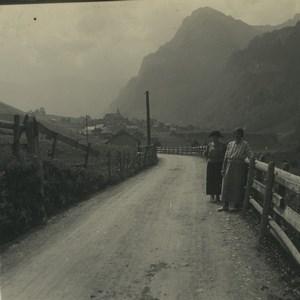 Switzerland Melchtal Arnigrat Old Possemiers Stereoview Photo 1920