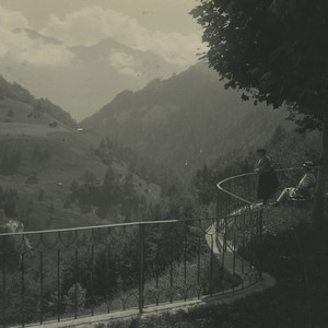 Switzerland Melchtal Fluhli Rauft Old Possemiers Stereoview Photo 1920