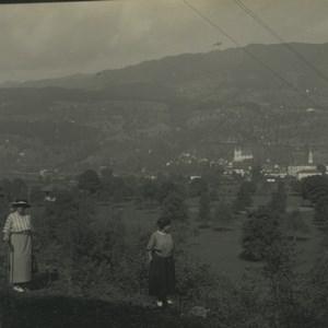 Switzerland Sarnen Fluhli Rauft Path Old Possemiers Stereoview Photo 1920