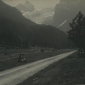 Switzerland Meiringen Rosenlui Glacier Old Possemiers Stereoview Photo 1920