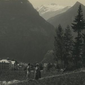 Switzerland Finhaut Hotel Bel Oiseau Old Possemiers Stereoview Photo 1920