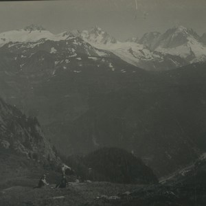Switzerland Gueulaz Pass Vallorcine valley Old Possemiers Stereoview Photo 1920