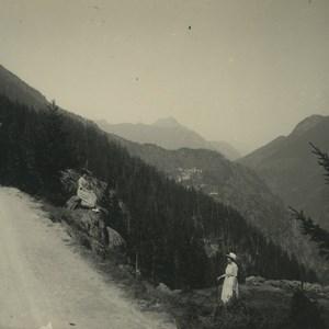 Switzerland Finhaut Chatelard Road Old Possemiers Stereoview Photo 1920