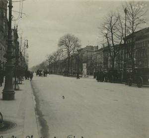 Allemagne Berlin Unter der Linden Ancienne Photo Stereo Possemiers 1920