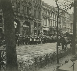 Allemagne Berlin Unter der Linden Releve de la Garde Ancienne Photo Stereo Possemiers 1920