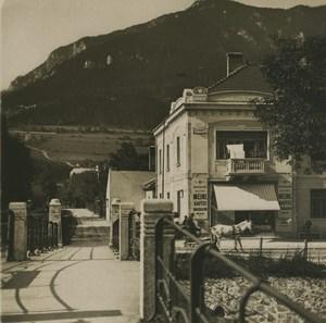 Austria Semmering Payerbach Geyerhofstrasse Old Photobrom Stereoview Photo 1900