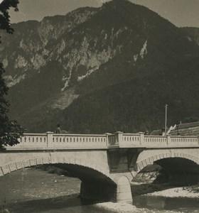 Austria Semmering Reichenau bridge Old NPG Stereoview Photo 1900