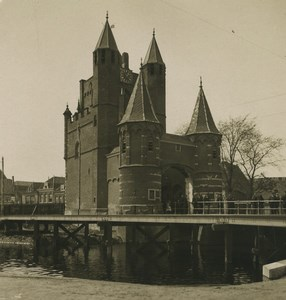 Netherland Haarlem Door of Amsterdam Old NPG Stereoview Photo 1900