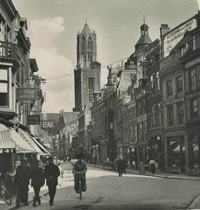 Pays Bas Utrecht une rue ancienne photo stereo NPG 1900